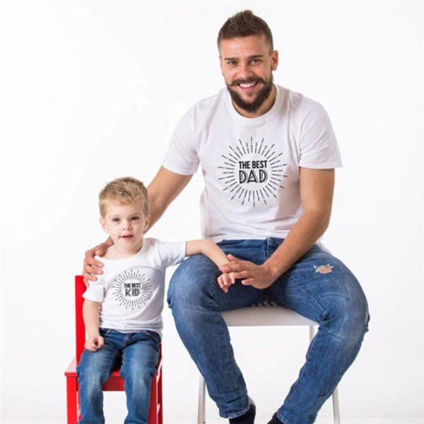 Matching Father And Son T Shirts-Best-Dad