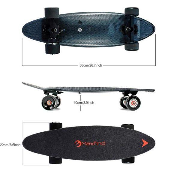Maxfind Electric Skateboard - Dimensions