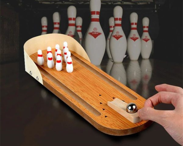 Mini Desktop Bowling Game Set