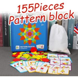 155 Piece Pattern Blocks Puzzle Game - 1