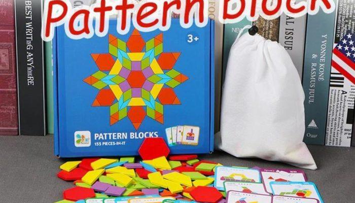 155 Piece Pattern Blocks Puzzle Game - 1
