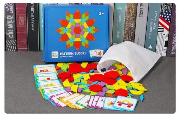 155 Piece Pattern Blocks Puzzle Game - 2