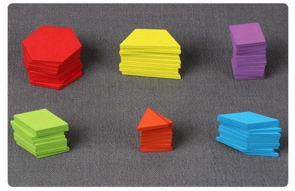 155 Piece Pattern Blocks Puzzle Game - 4