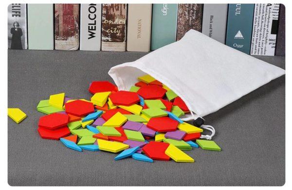 155 Piece Pattern Blocks Puzzle Game - 5