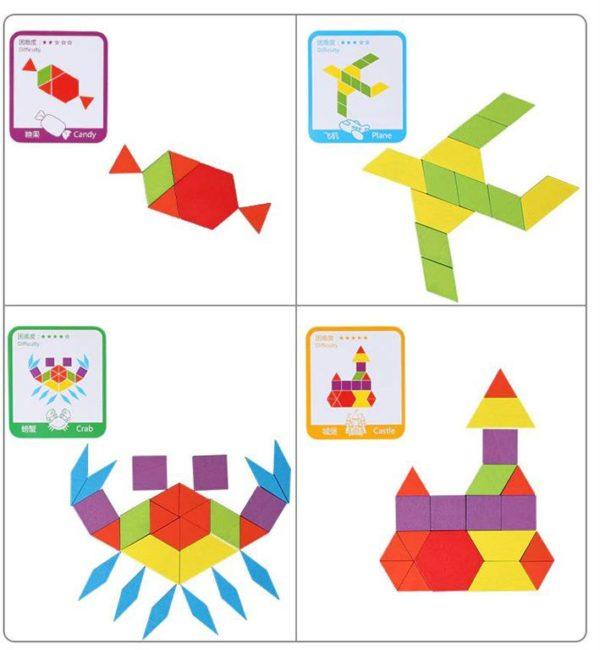 155 Piece Pattern Blocks Puzzle Game - 6