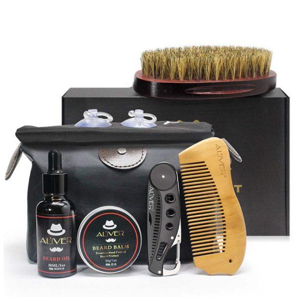 Men's Beard Maintenance Gift Set - 7 Pcs