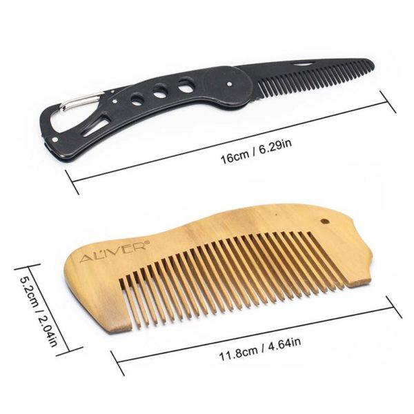 Men's Beard Trimming Gift Set - 7 Pcs - 2