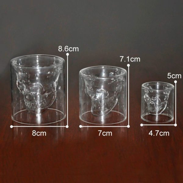 Crystal Skull Glass - Sizes