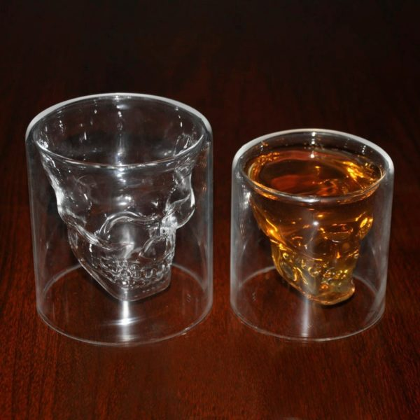 Crystal Skull Glass - filled