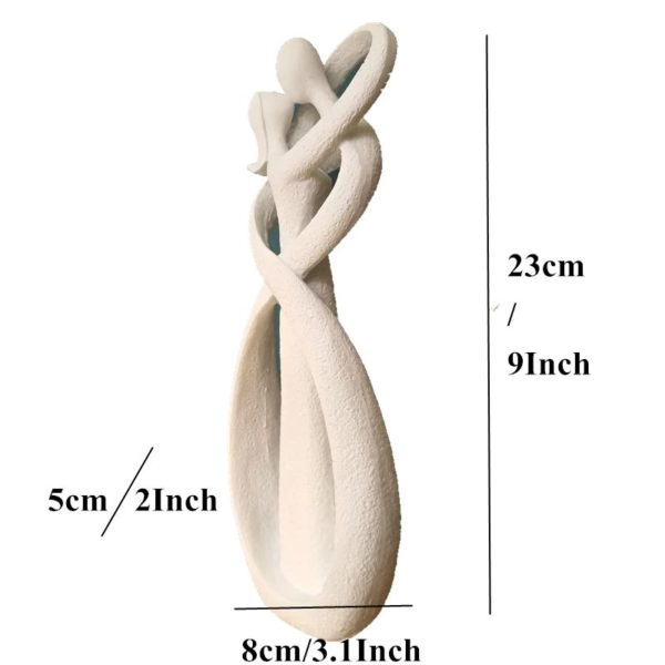 Kissing Lovers Figurine - Size