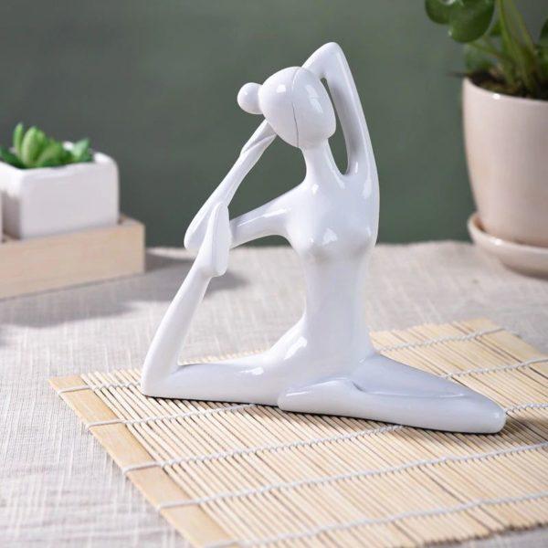 Large Yoga Figurines - Back Leg White