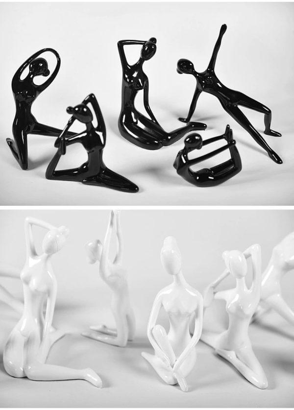 Large Yoga Figurines-Black2