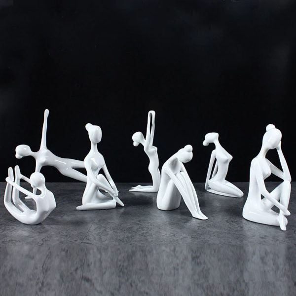 Large Yoga Figurines - White