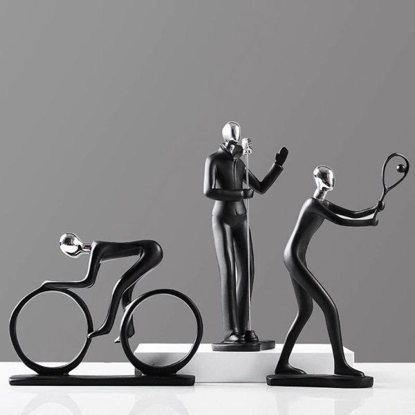 Modern Art Sportsman Figurines - 1