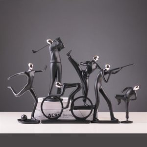 Modern Art Sportsman Figurines