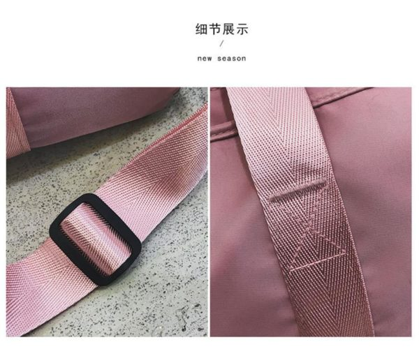 PINK Ladies Sports Bag - straps
