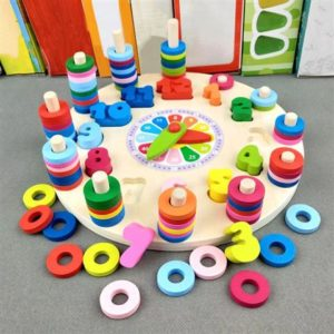 Wooden Toy Clock - Early Learning For Children - 5