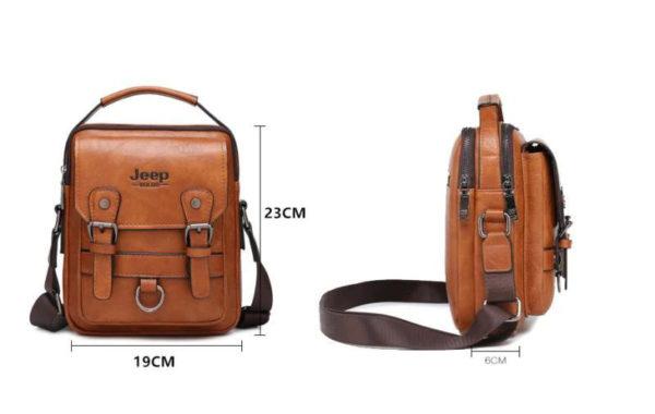 Crossbody Leather Shoulder Bag For Men - Size