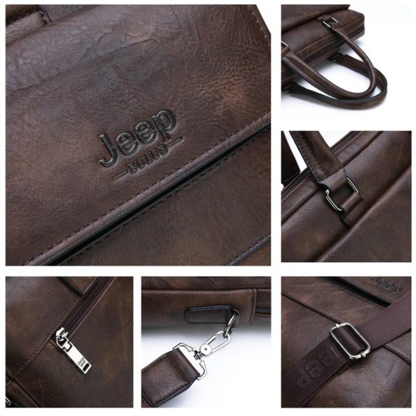 Men's Leather Business Bag - 1