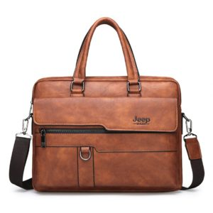 Men's Leather Business Bag - Brown