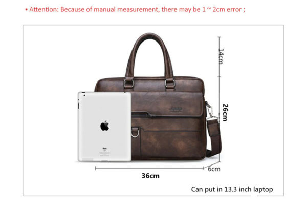 Men's Leather Business Bag - Dimensions