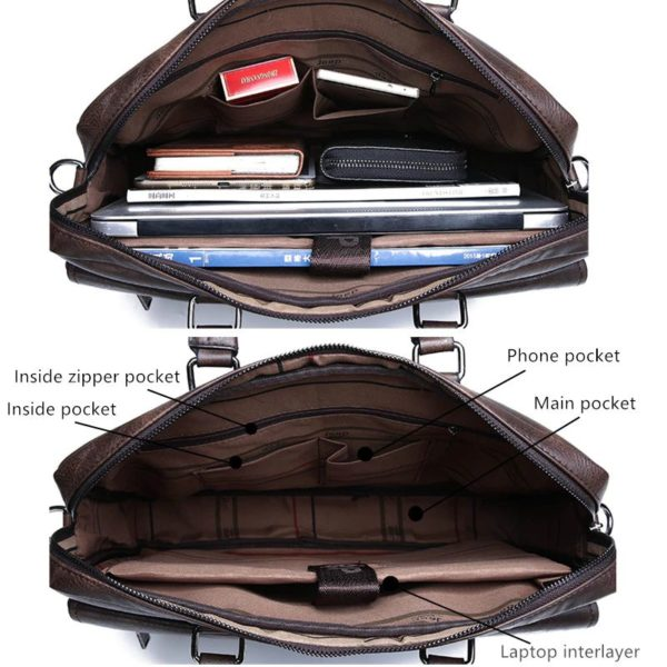 Men's Leather Business Bag - capacity