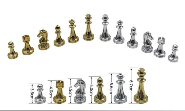 Professional Chess Set - Golden And Silver Chess Pieces - 2