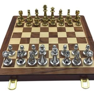 Professional Chess Set - Golden And Silver Chess Pieces - 9