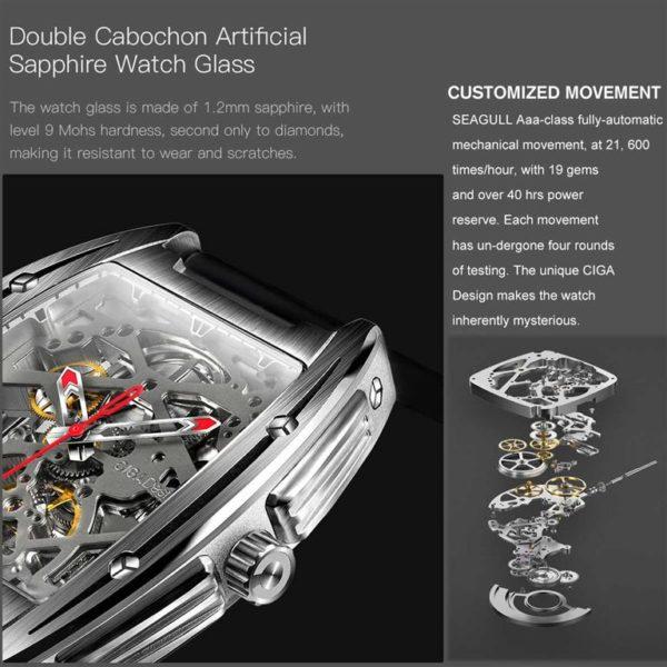 CIGA Design Z Series Mechanical Men's Waterproof Watch -3