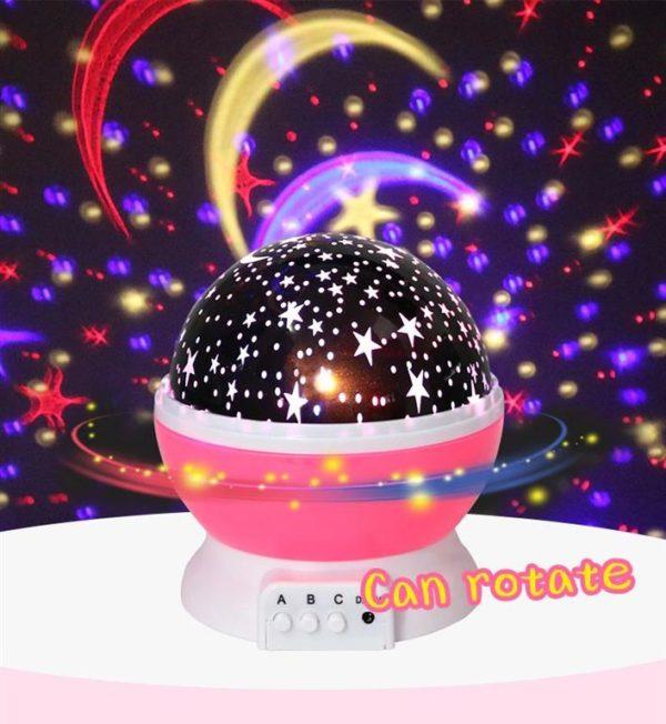 Children's Starry Sky LED Projection Night Light - 7