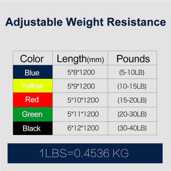 Gym Resistance Bands Set - Weights