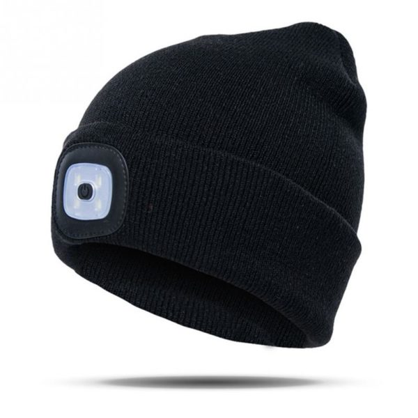 LED Winter Beanie - black