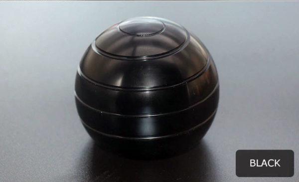 Globe Spinner - Kinetic Desktop Toy - Black
