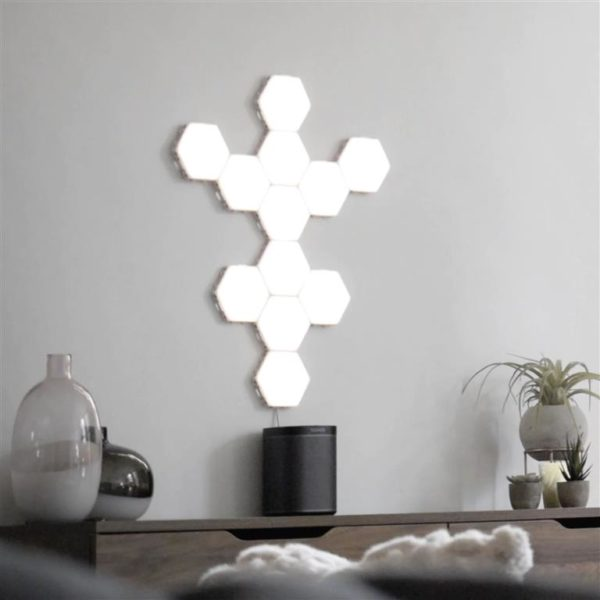 Modular Hexagonal Touch Sensitive Lighting System - 10