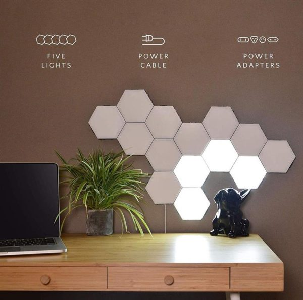 Modular Hexagonal Touch Sensitive Lighting System - 2