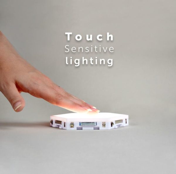 Modular Hexagonal Touch Sensitive Lighting System - 3