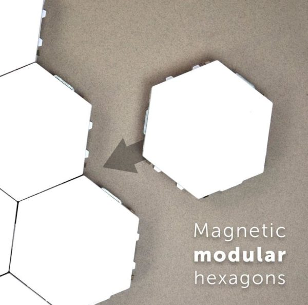 Modular Hexagonal Touch Sensitive Lighting System - 4