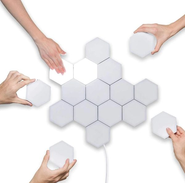 Modular Hexagonal Touch Sensitive Lighting System - 5