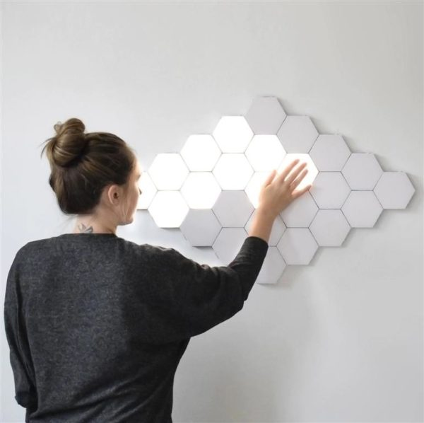 Modular Hexagonal Touch Sensitive Lighting System - 6