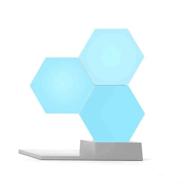 Smart Quantum Lamp – Modular Hexagonal Touch Sensitive Lighting System - Blue