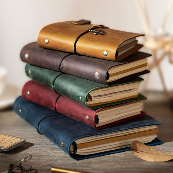 Handmade Vintage Leather Traveler Notebook - Pile