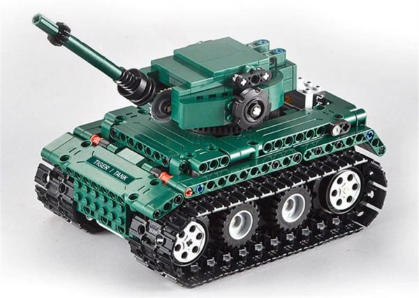 Motorized WW2 German Tiger 1 Tank - Building Blocks - 7