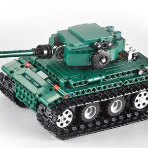 Motorized WW2 German Tiger 1 Tank - Building Blocks - 9