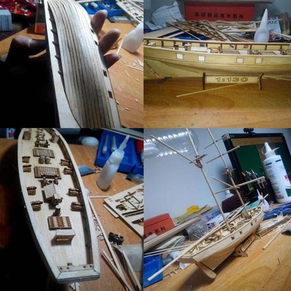 Wooden Sail Ship Building Kit - Hobby -1