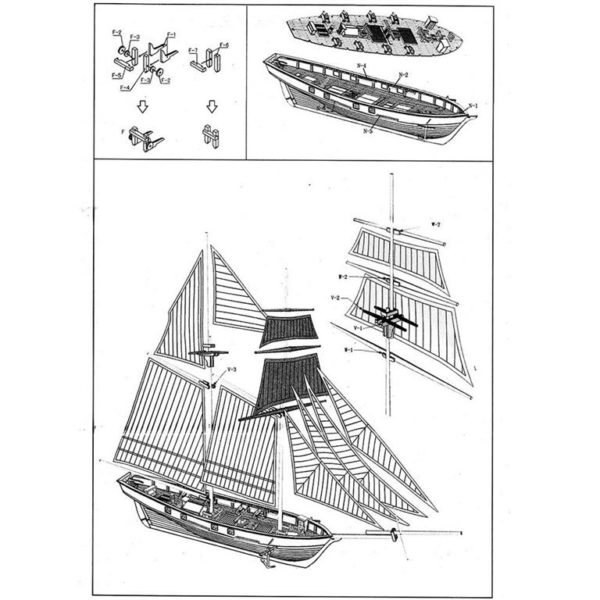 Wooden Sail Ship Building Kit - Hobby - 4