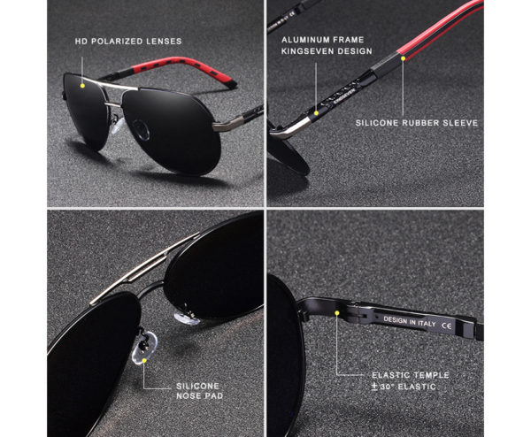 Aluminum Polarized Sunglasses For Men-Women - 2