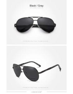 Aluminum Polarized Sunglasses For Men-Women - black-gray