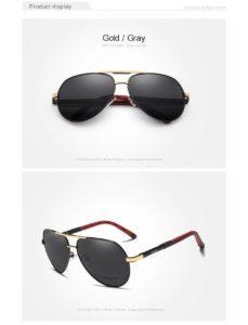 Aluminum Polarized Sunglasses For Men-Women - gold