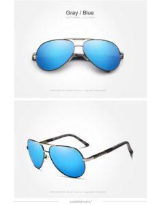 Aluminum Polarized Sunglasses For Men-Women - gray-blue