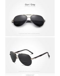 Aluminum Polarized Sunglasses For Men-Women - gun-gray